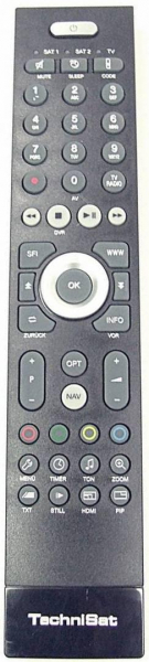 Replacement remote control for Technisat TechniPlus ISIO42