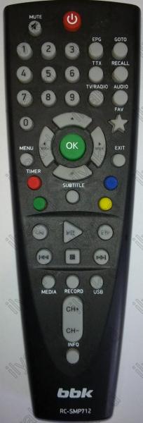BBK RC-SMP712 Náhradní dálkový ovládač