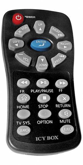 RAIDSONIC ICY BOX IB-MP305A-B Náhradní dálkový ovládač