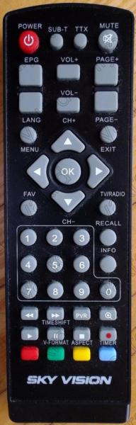 SKY VISION T2202HD Náhradní dálkový ovládač