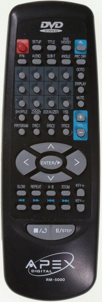 Replacement remote control for Apex RM-5000