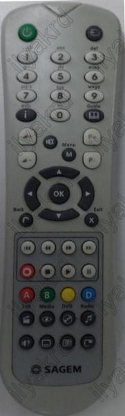 SAGEM DSI87HD4B1 Náhradní dálkový ovládač