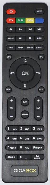 GIGABOX S1000 Náhradní dálkový ovládač
