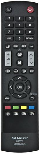 Replacement remote control for Sharp LC-32LE244RU