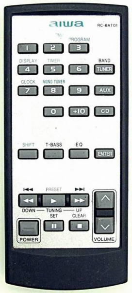 Replacement remote control for Aiwa XR-X7