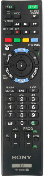SONY KDL-42W805A Náhradní dálkový ovládač