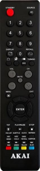 Náhradní dálkový ovladač pro Akai AKTV401
