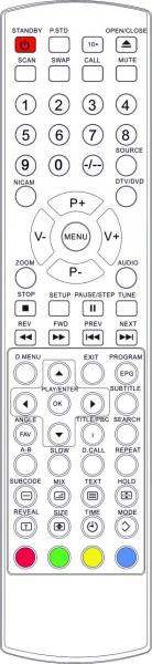 ALBA TVD3407 Náhradní dálkový ovládač