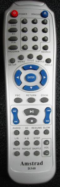 AMSTRAD DX4015 Náhradní dálkový ovládač