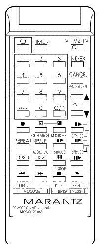 AUDIOSONIC 9555 Náhradní dálkový ovládač