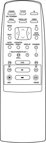 AKAI AVB1024A010C Náhradní dálkový ovládač