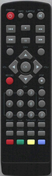 Replacement remote control for Alma T2400