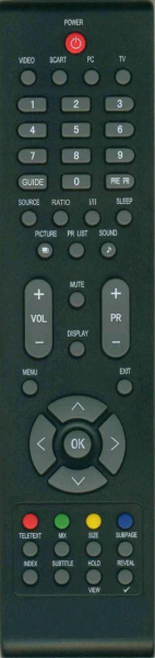 AOC L22WB81 Náhradní dálkový ovládač