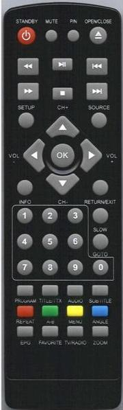AUDIOLA DVX2266 Náhradní dálkový ovládač