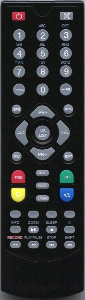 COMMANDER 8300HD Náhradní dálkový ovládač