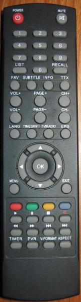 TV STAR T1010P Náhradní dálkový ovládač