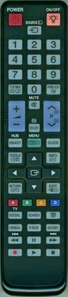 Erstatnings-fjernbetjening til  Samsung PS43D450A2WXZG
