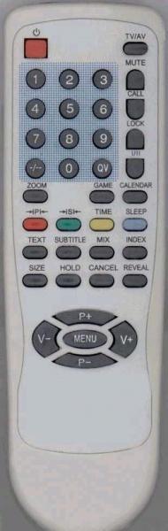 Control remoto de sustitución para 1one CRT15(2VERS.)