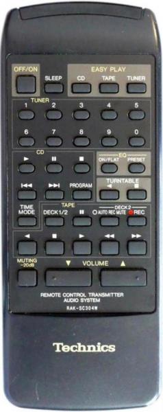 Control remoto de sustitución para Technics SU-X102