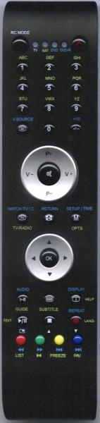 Control remoto de sustitución para 1one RC5010(DVB)
