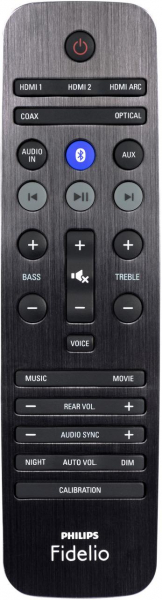 Replacement remote control for Philips FIDELIO B5