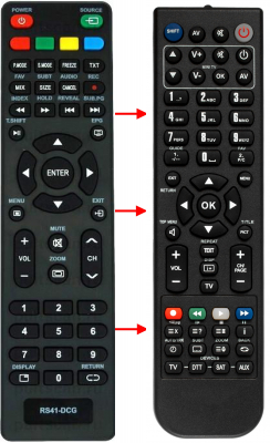 Replacement remote control for Akira 32LEC05T2S