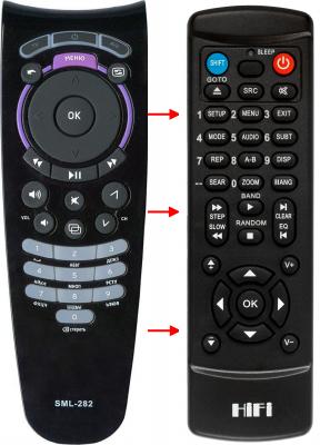 Erstatnings-fjernbetjening til  Motorola IPTV VIP-1003