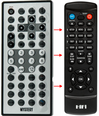 Replacement remote control for MYSTERY MDD-7300S