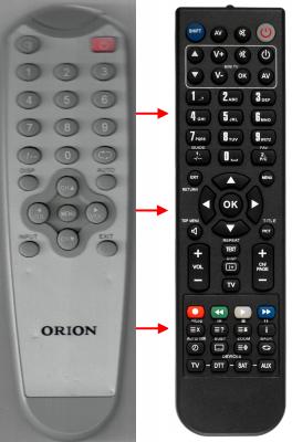 Erstatnings-fjernbetjening til  Digital 16J103