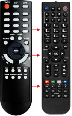 Erstatnings-fjernbetjening til  Irc 207F VR(KOD103)