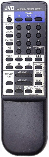 Replacement remote control for JVC RX-518V