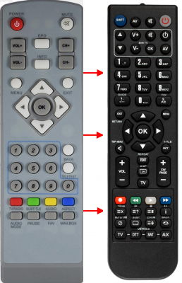 Replacement remote control for Access HD DCD-3011