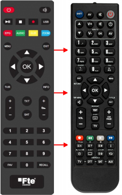 Replacement remote control for FTE Maximal EXTREME HD FLEX PLUS
