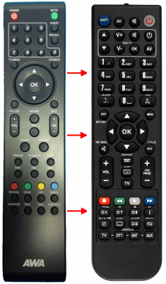 Replacement remote control for Haier 32C500F