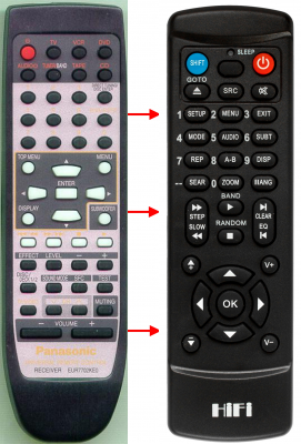 Replacement remote for Technics SA-DX1050