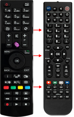 Replacement remote control for Digiquest 32DGQ32169HEVC DVBTS