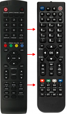 Replacement remote control for Aiwa 20LE7010