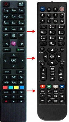 Replacement remote control for Cahors L65F243M3C