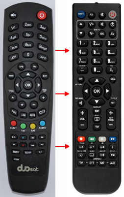 Replacement remote control for Duosat DUOSAT ALL MODEL