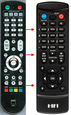 Replacement remote control for Nad C165BEE