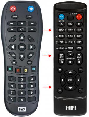 Erstatnings-fjernbetjening til  Western Digital C3H