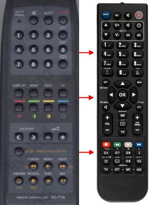 Replacement remote control for Bruns 37-200RFT