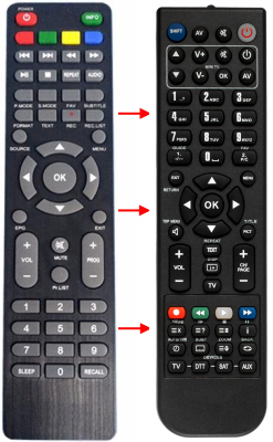 Replacement remote control for Palsonic PDP4310HD