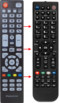 Replacement remote control for Palsonic RC-327