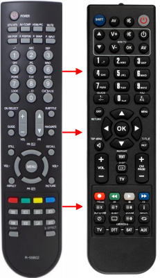 Replacement remote control for Palsonic R-55B02