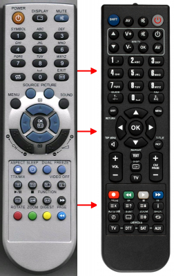 Replacement remote control for Amoi LC20D5