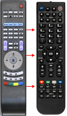 Replacement remote control for Amoi HOF06E338D10