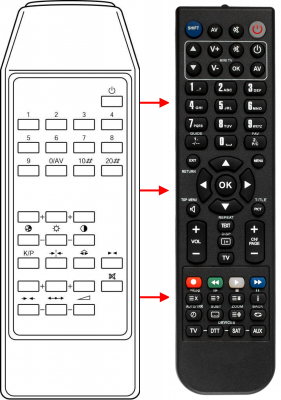 Replacement remote control for Interbuy 20BZC