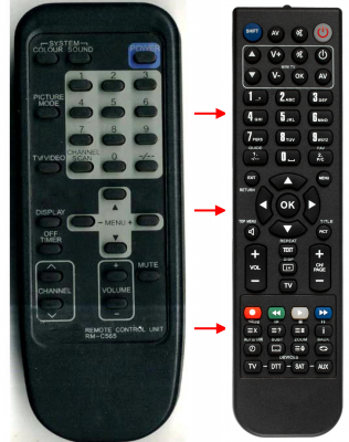 Replacement remote control for JVC AV G21AU