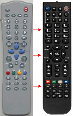 Replacement remote control for Ft LOR121RC2543